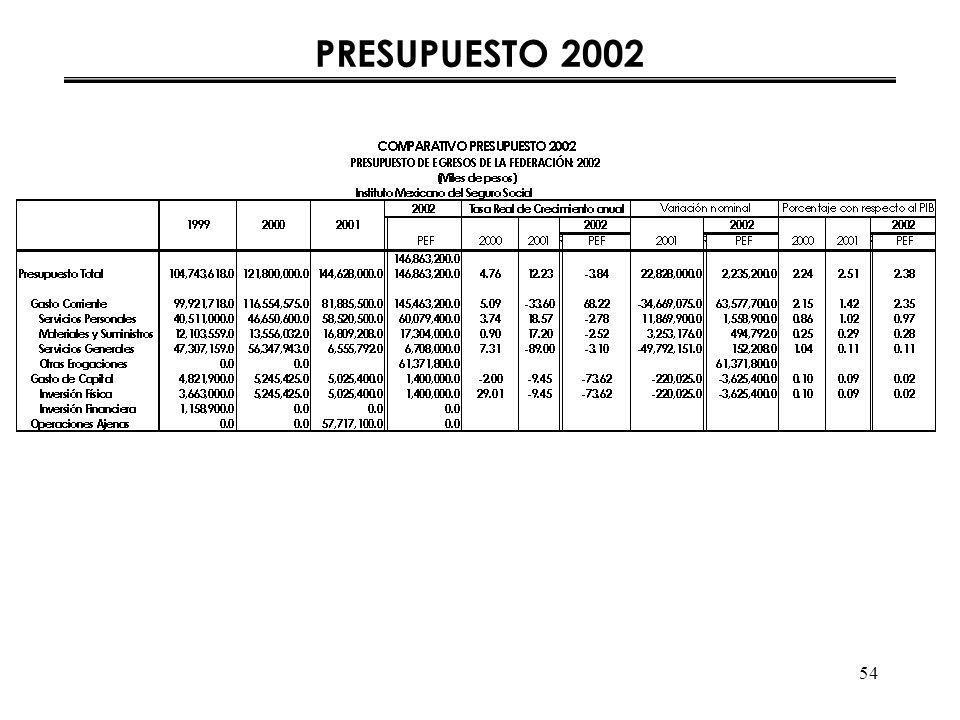 54 PRESUPUESTO 2002