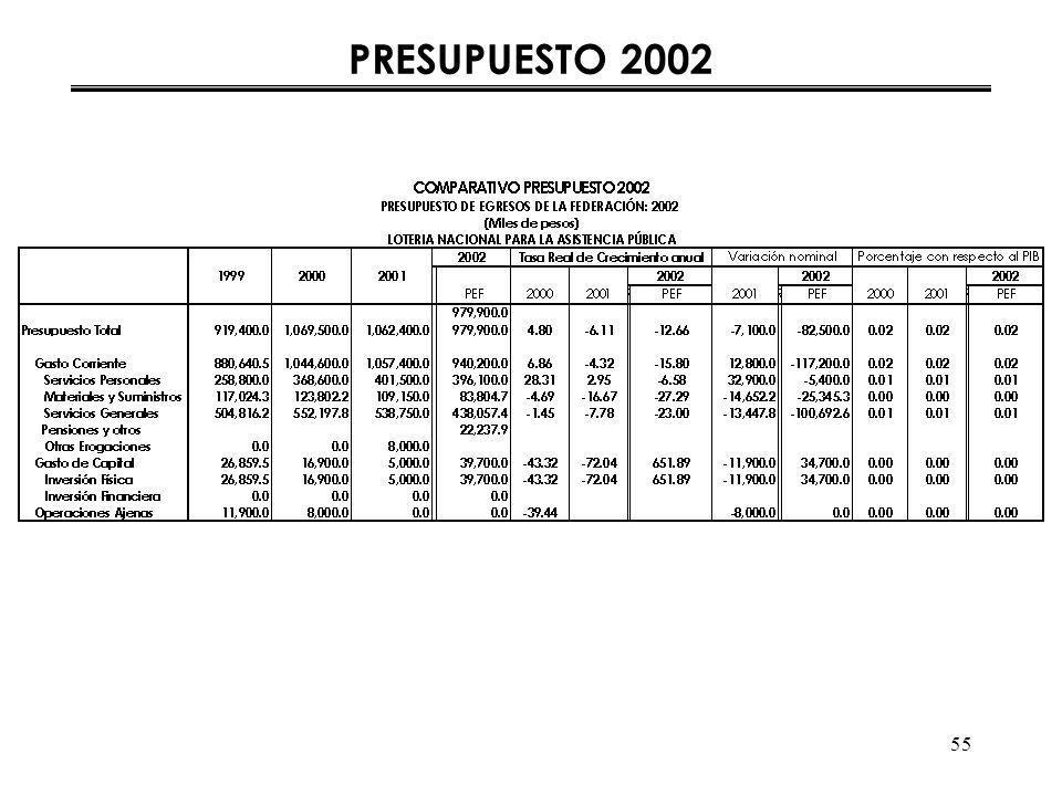 55 PRESUPUESTO 2002