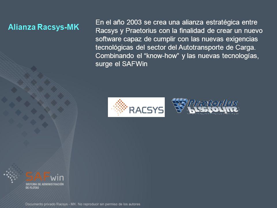 En el año 2003 se crea una alianza estratégica entre Racsys y Praetorius con la finalidad de crear un nuevo software capaz de cumplir con las nuevas e