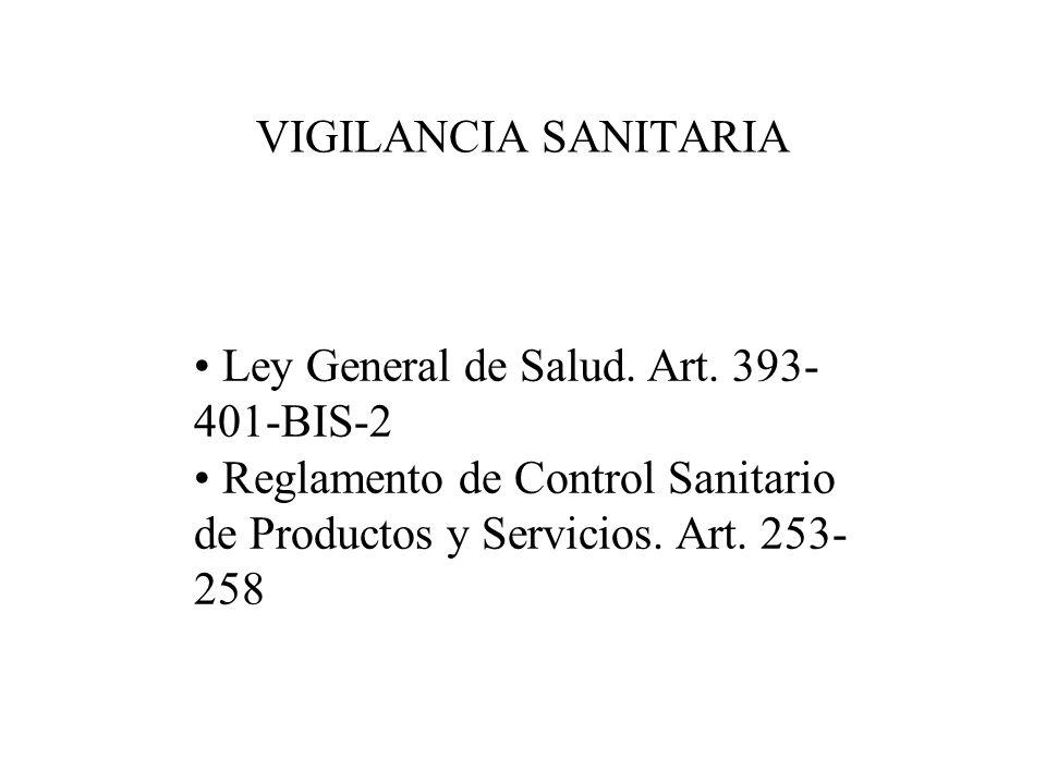 Definicion de Control Sanitario Art.194 de la Ley General de Salud.