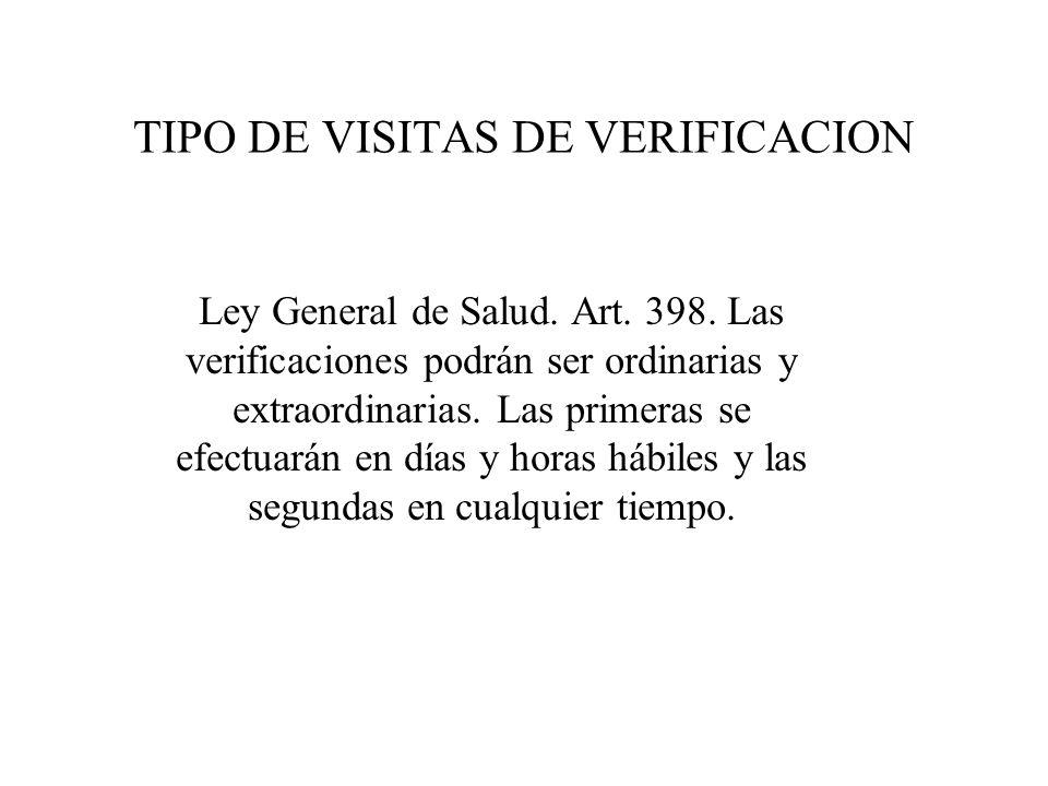 VIGILANCIA SANITARIA Ley General de Salud. Art. 393- 401-BIS-2 Reglamento de Control Sanitario de Productos y Servicios. Art. 253- 258