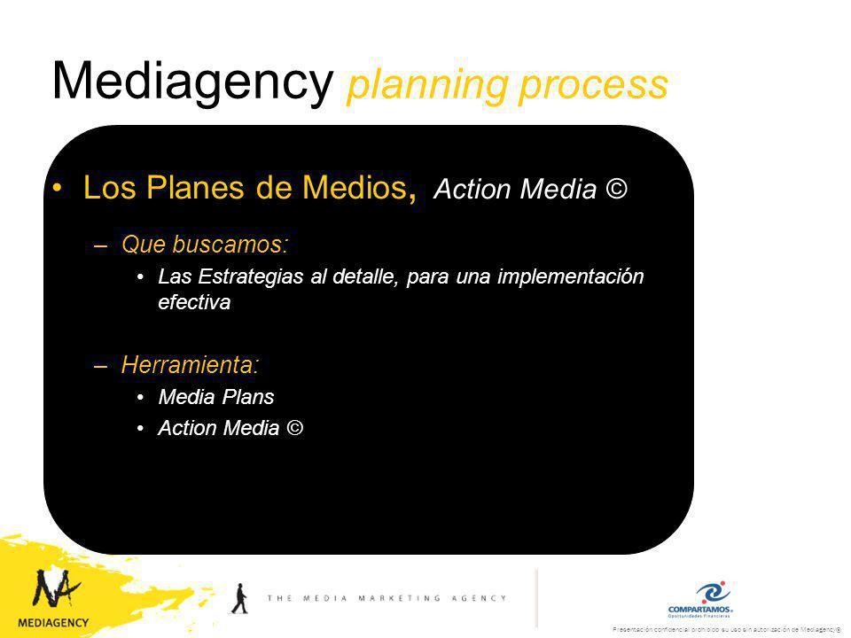 Presentación confidencial prohibido su uso sin autorización de Mediagency® Mediagency planning process La Estrategia, Mediagency Media Creativity Martín Aceves – Fundador de la Asociación de Agencias de Medios, AAM.