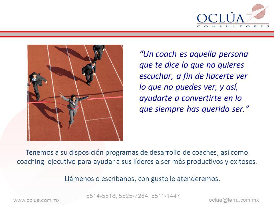 www.oclua.com.mx oclua@terra.com.mx Llámenos o escríbanos, con gusto le atenderemos. 5514-5518, 5525-7284, 5511-1447 Tenemos a su disposición programa