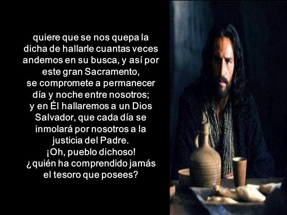 Sí, Jesucristo, antes de instituir este Sacramento de amor, sabía muy bien a cuántos desprecios y profanaciones se expondría; mas nada fue bastante pa