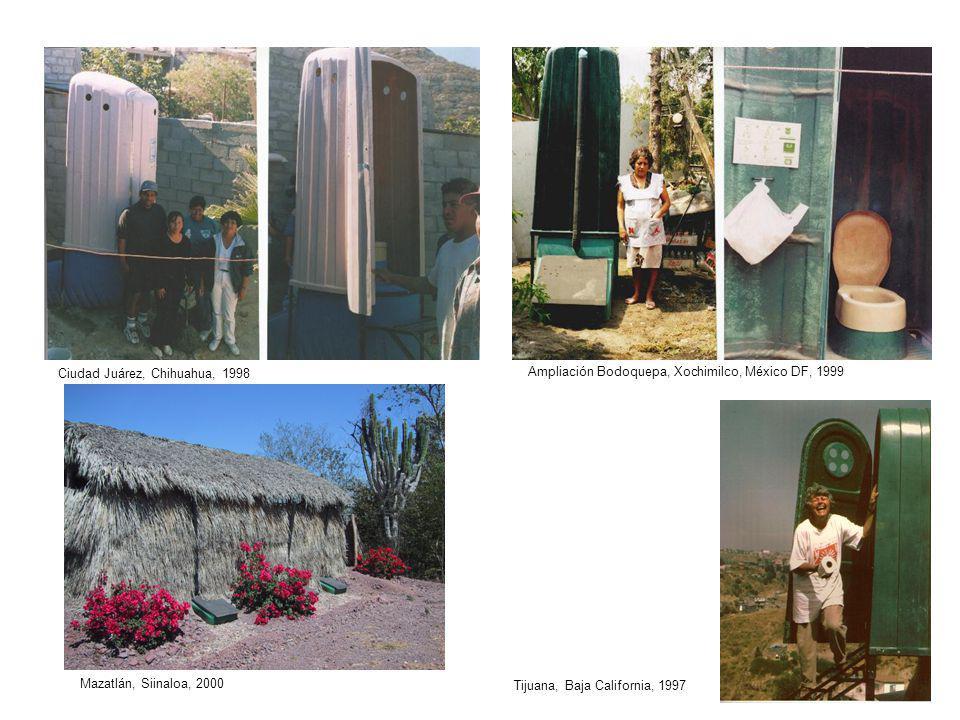 Ciudad Juárez, Chihuahua, 1998 Ampliación Bodoquepa, Xochimilco, México DF, 1999 Mazatlán, Siinaloa, 2000 Tijuana, Baja California, 1997