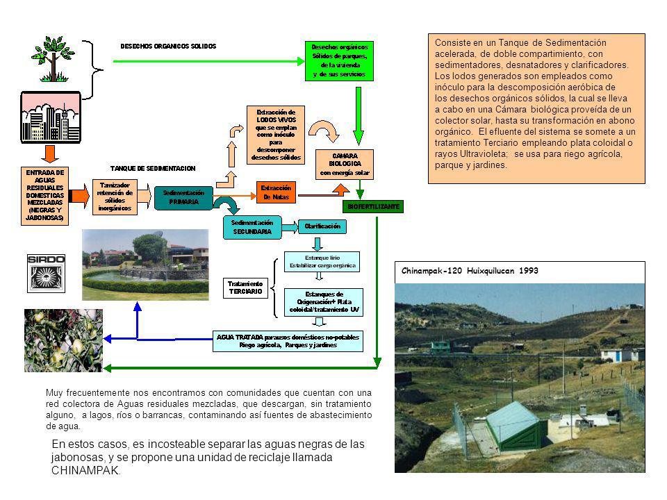 Muy frecuentemente nos encontramos con comunidades que cuentan con una red colectora de Aguas residuales mezcladas, que descargan, sin tratamiento alg