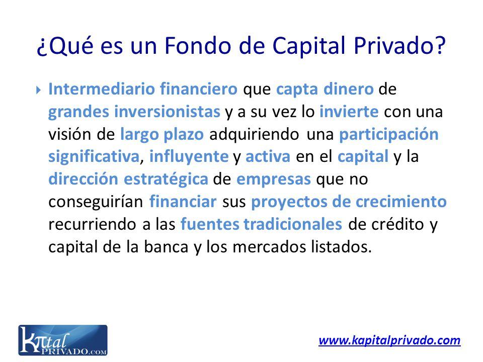 www.kapitalprivado.com Intermediario financiero que capta dinero de grandes inversionistas y a su vez lo invierte con una visión de largo plazo adquir