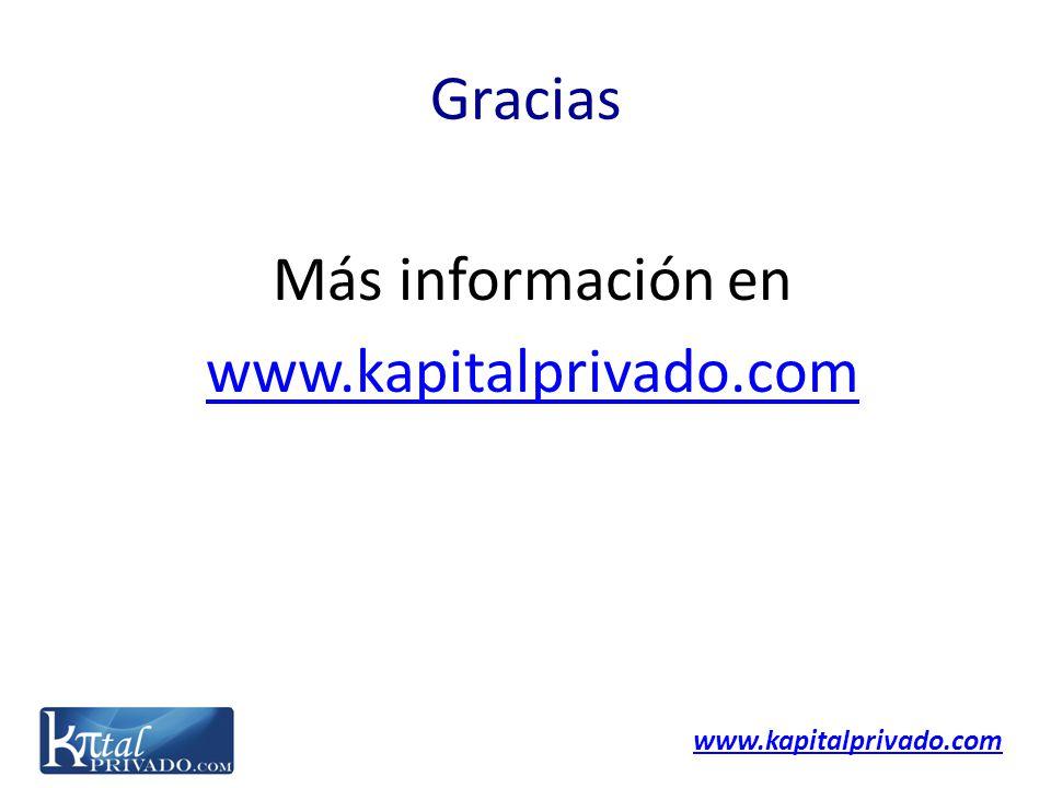 www.kapitalprivado.com Gracias Más información en www.kapitalprivado.com