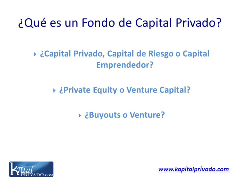 www.kapitalprivado.com ¿Capital Privado, Capital de Riesgo o Capital Emprendedor? ¿Private Equity o Venture Capital? ¿Buyouts o Venture? ¿Qué es un Fo