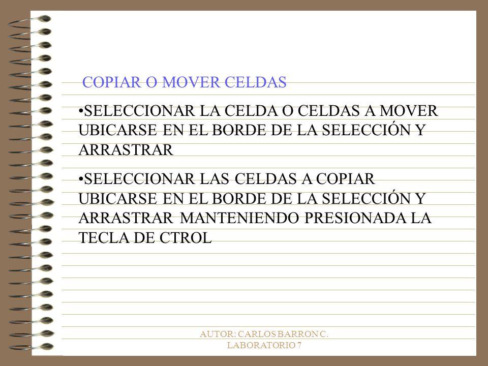 AUTOR: CARLOS BARRON C.