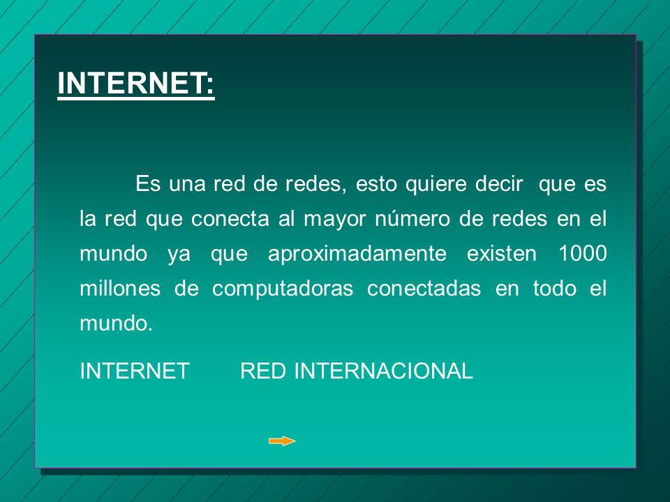 OBJETIVO: Aprender conceptos basicos de INTERNET asi como navegar a través de internet