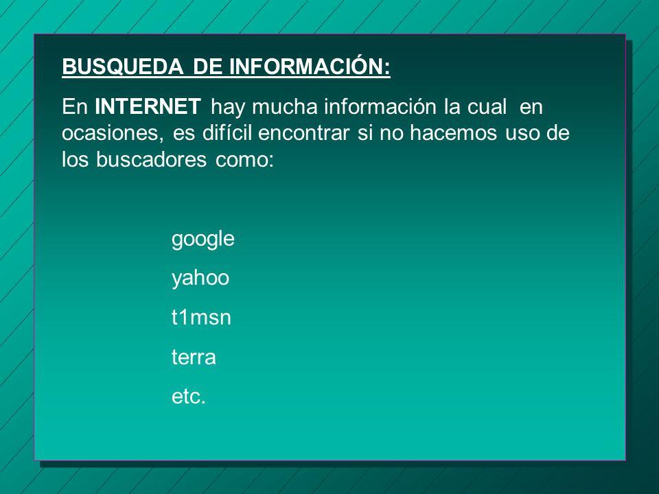 ACCESO A INFORMACIÓN: En esté servicio se podrá accesar a la información de cualquier computadora conectada a la red, ejecutar programas, en forma gen