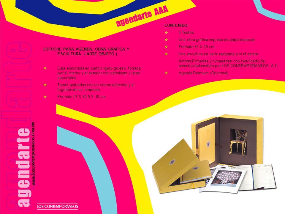 ESTUCHE ART GICLEÉ ENROLLABLE Caja elaborada en cartón rígido grueso, forrada por el interior y el exterior con cartulinas y telas especiales.