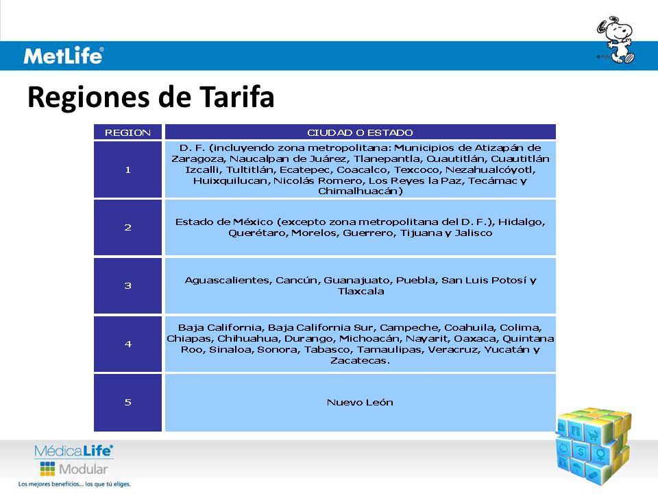 Regiones de Tarifa