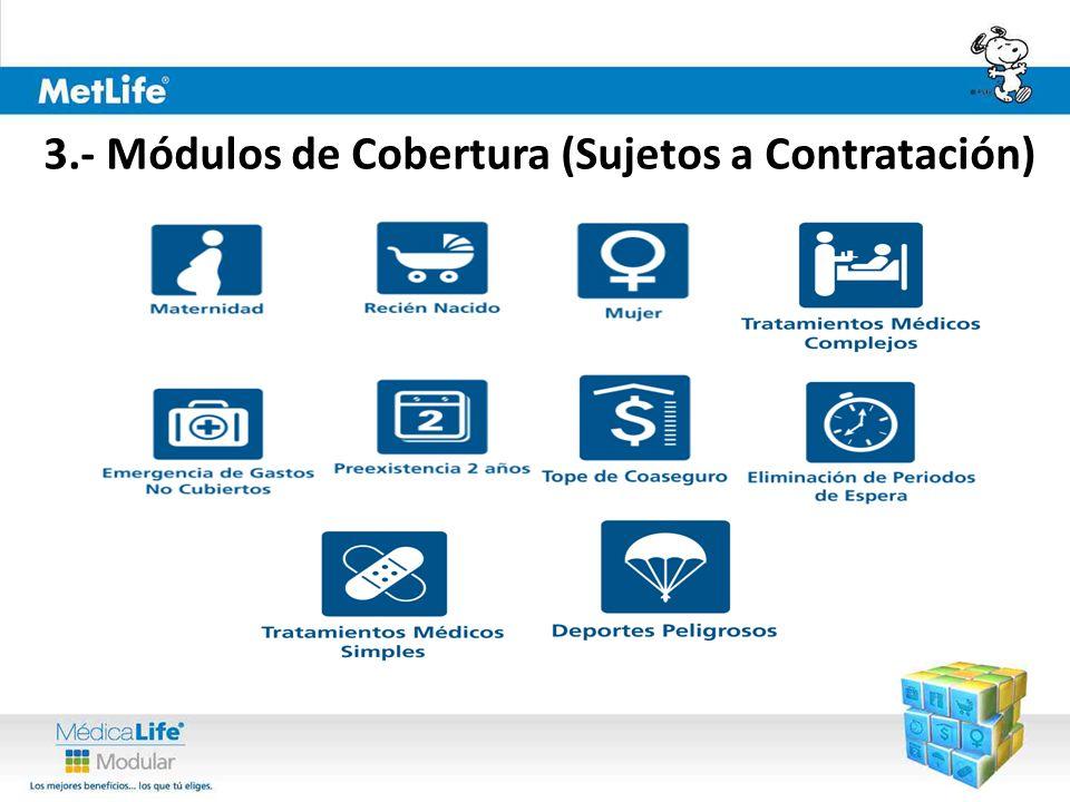 3.- Módulos de Cobertura (Sujetos a Contratación)