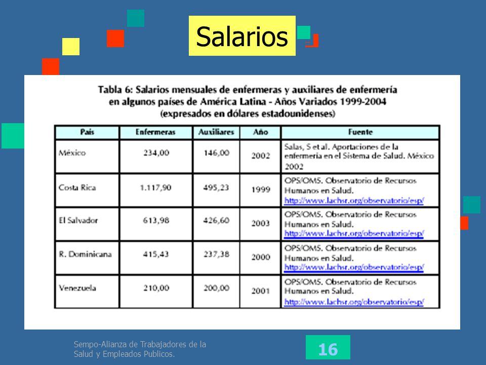 Sempo-Alianza de Trabajadores de la Salud y Empleados Publicos. 16 Salarios