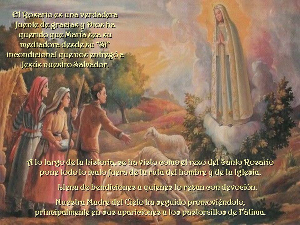 A lo largo de la historia, se ha visto como el rezo del Santo Rosario pone todo lo malo fuera de la ruta del hombre y de la Iglesia.