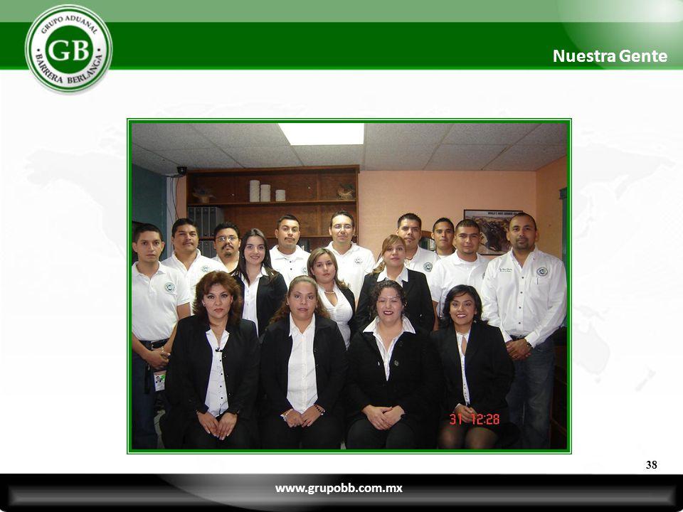 38 Nuestra Gente www.grupobb.com.mx