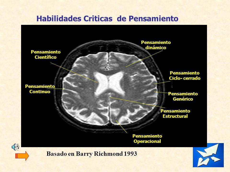 Pensamiento dinámico Pensamiento Ciclo- cerrado Pensamiento Genérico Pensamiento Estructural Pensamiento Continuo Pensamiento Científico Pensamiento O