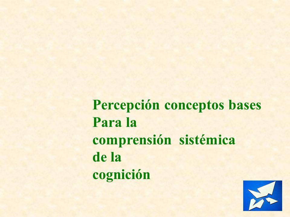 Percepción conceptos bases Para la comprensión sistémica de la cognición