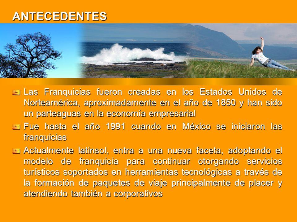 ANTECEDENTES Las Franquicias fueron creadas en los Estados Unidos de Norteamérica, aproximadamente en el año de 1850 y han sido un parteaguas en la ec