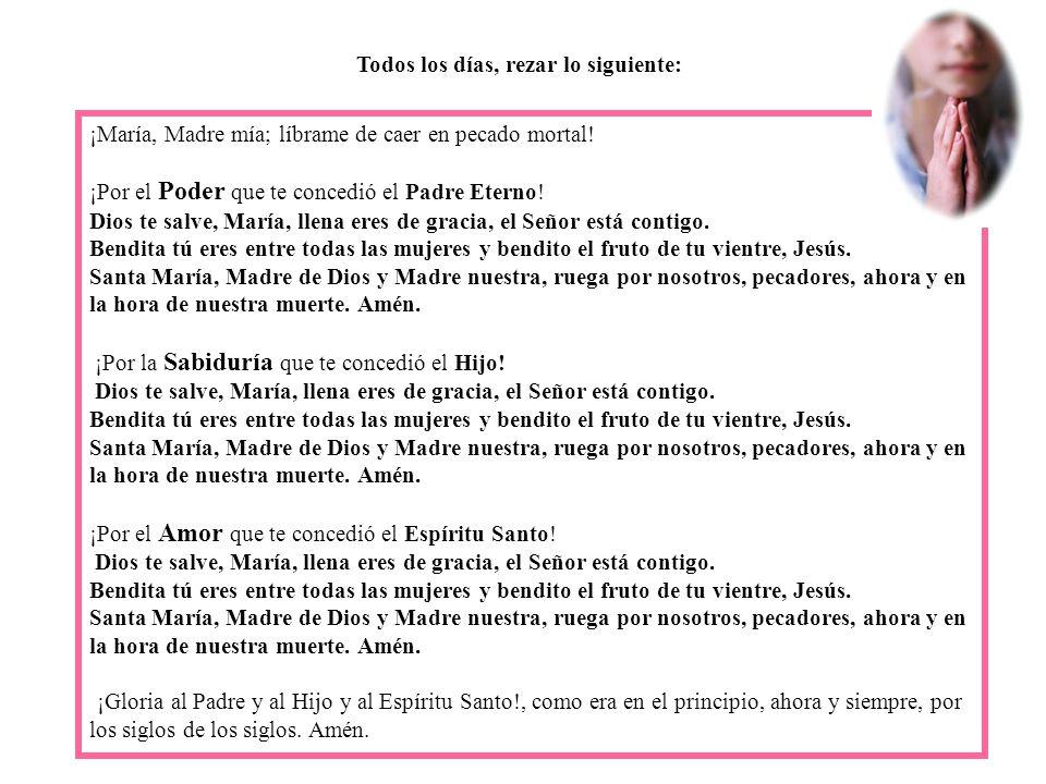 Devoción de las tres Ave Marías Practica esta devoción que es fácil y breve.