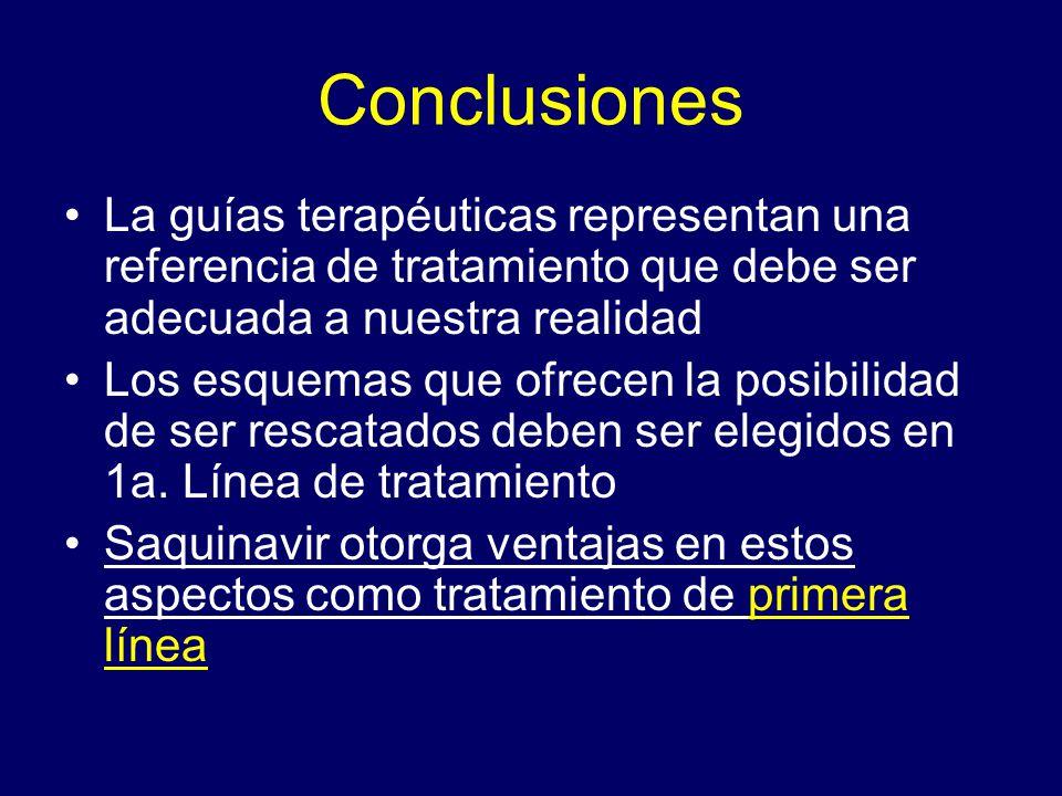 Conclusiones La guías terapéuticas representan una referencia de tratamiento que debe ser adecuada a nuestra realidad Los esquemas que ofrecen la posi
