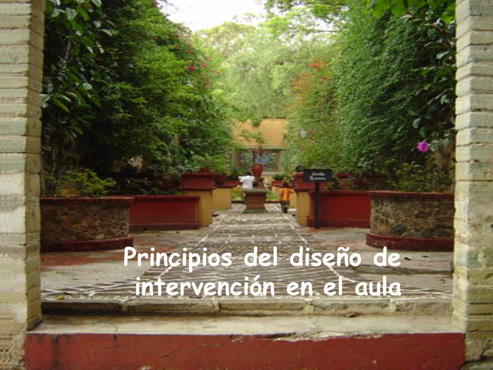 Principios del diseño de intervención en el aula