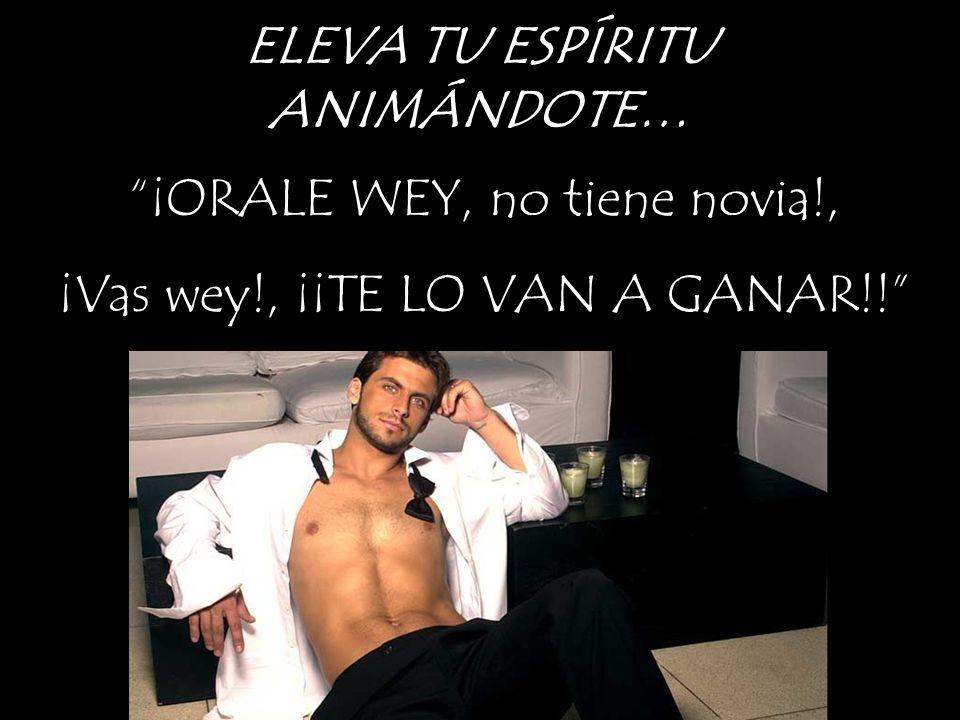 ELEVA TU ESPÍRITU ANIMÁNDOTE… ¡ORALE WEY, no tiene novia!, ¡Vas wey!, ¡¡TE LO VAN A GANAR!!