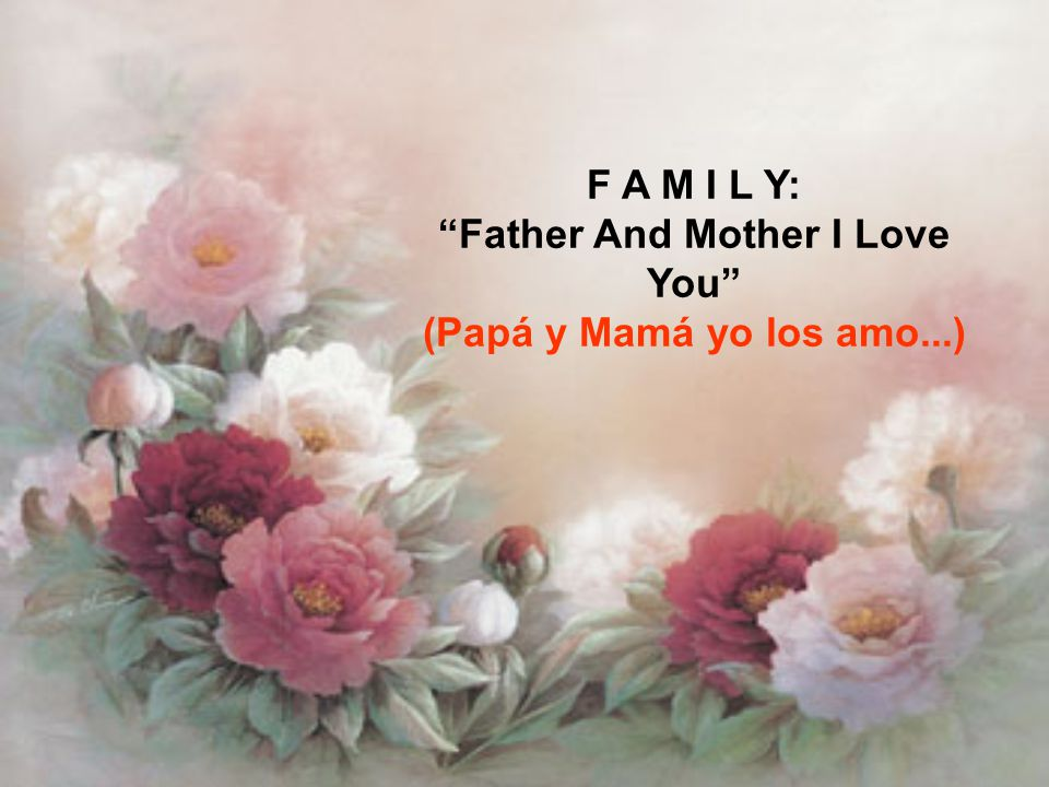 Entonces, ¿Qué hay detrás de esta historia? ¿Sabes lo que significa la palabra Familia en inglés?