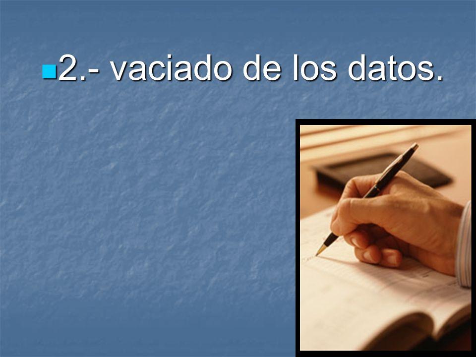 1 1.- Elaborar y aplicar el cuestionario.
