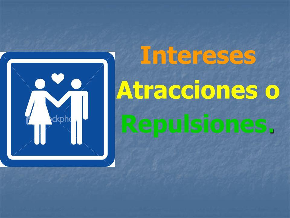 Intereses Atracciones o. Repulsiones.