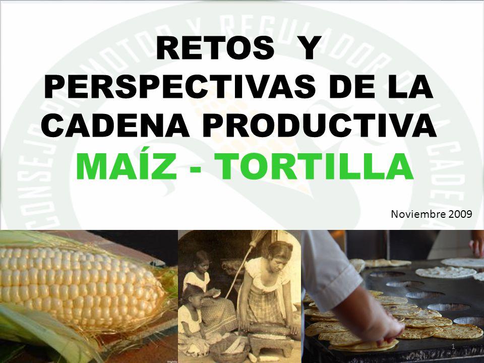 05/06/20141 RETOS Y PERSPECTIVAS DE LA CADENA PRODUCTIVA MAÍZ - TORTILLA Noviembre 2009 1
