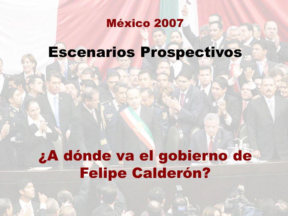 México 2007 Escenarios Prospectivos ¿A dónde va el gobierno de Felipe Calderón