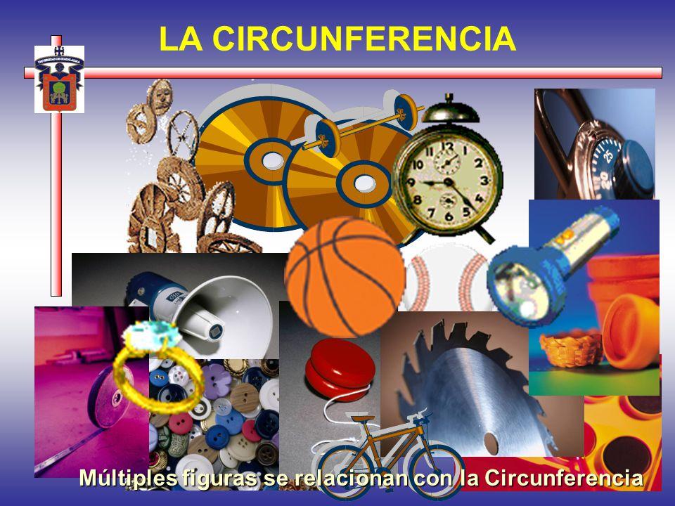 LA CIRCUNFERENCIA Múltiples figuras se relacionan con la Circunferencia
