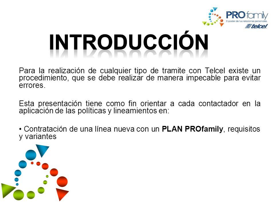 Ofrecer los planes PROfamily a las personas que tienen un AMIGO DE TELCEL.