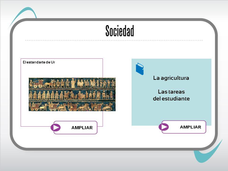Sociedad El estandarte de Ur La agricultura Las tareas del estudiante