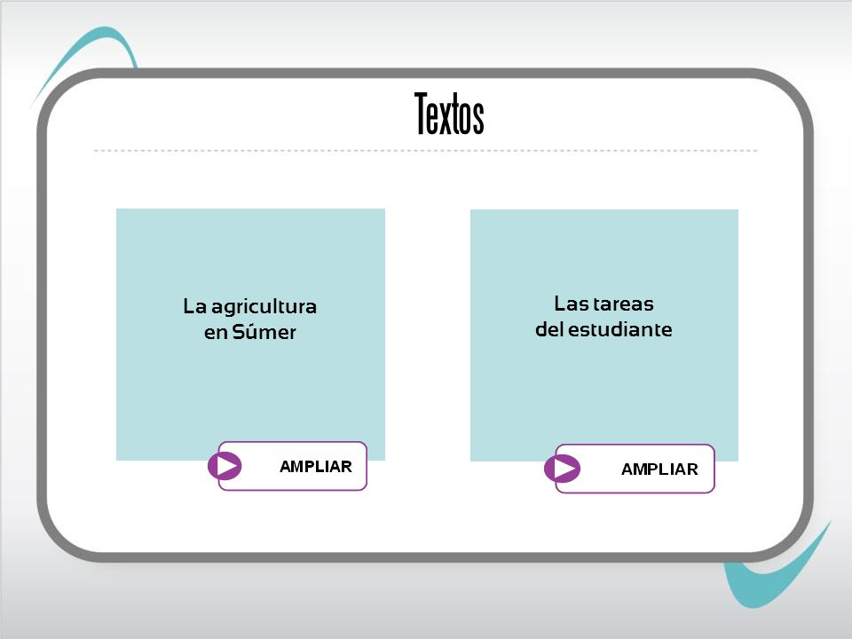 Textos La agricultura en Súmer Las tareas del estudiante
