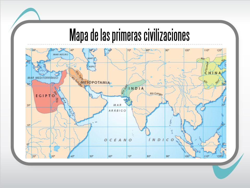 Mapa de las primeras civilizaciones