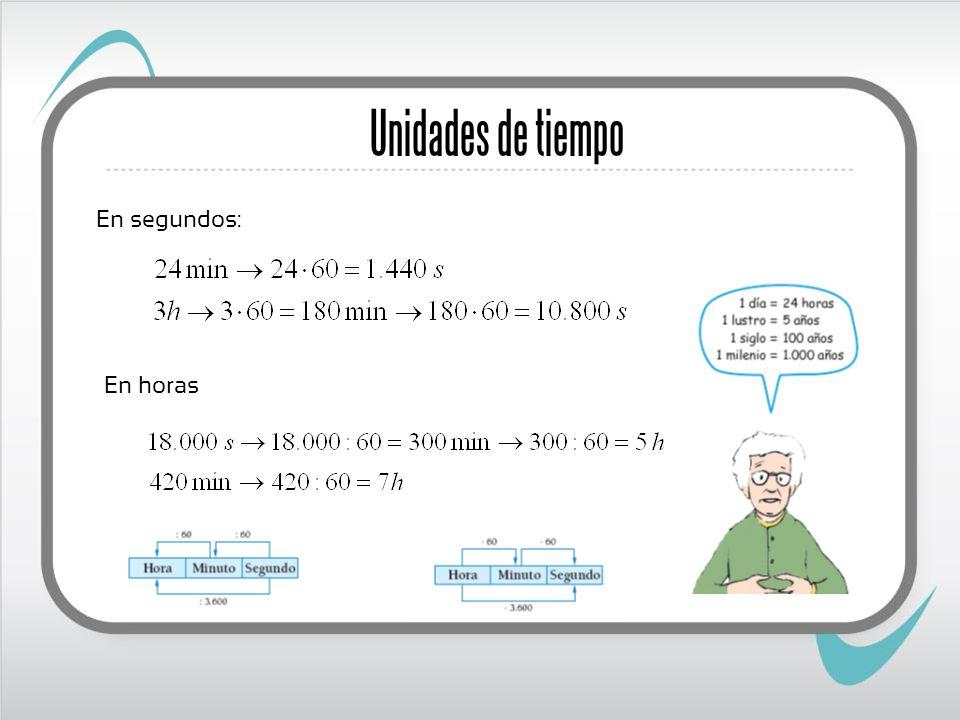 Expresiones complejas e incomplejas Una medida de ángulos o de tiempo puede ser expresada de dos maneras: Forma compleja, o utilizando varias unidades Forma incompleja, o utilizando una sola unidad