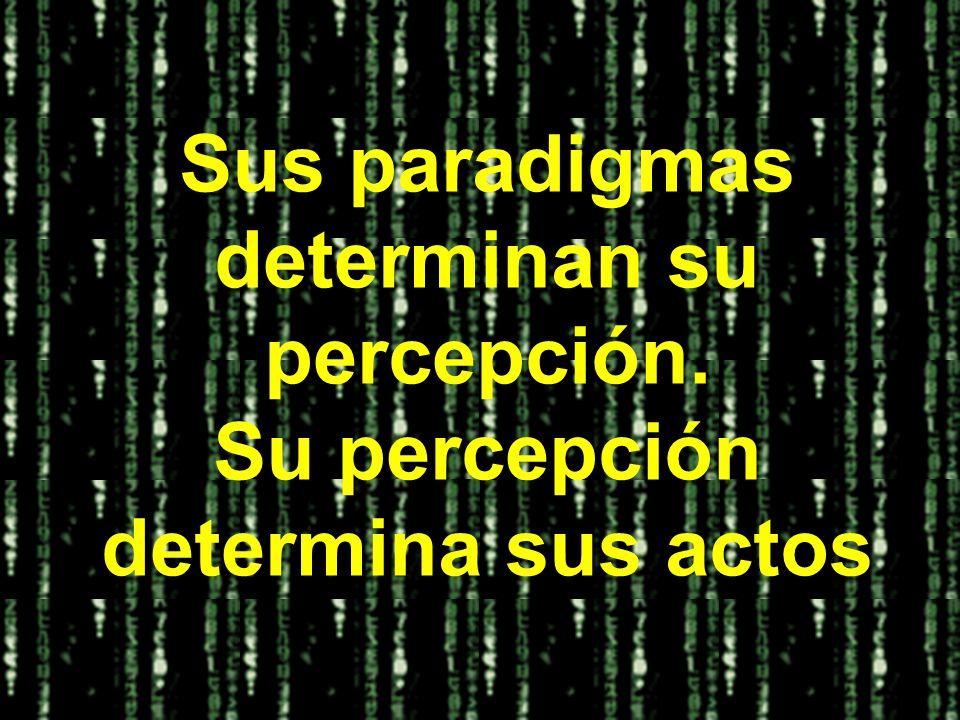 Sus paradigmas determinan su percepción. Su percepción determina sus actos