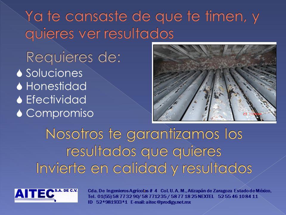 Soluciones Honestidad Efectividad Compromiso Cda. De Ingenieros Agrícolas # 4 Col. U. A. M., Atizapán de Zaragoza Estado de México, Tel. 01(55) 58 77