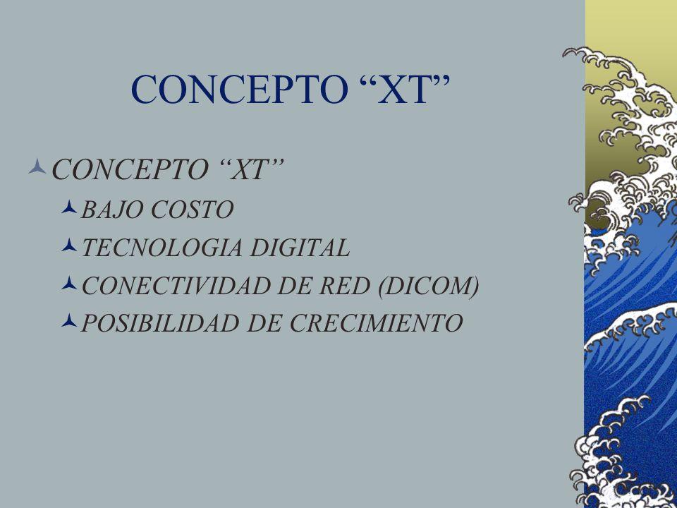 CONCEPTO XT BAJO COSTO TECNOLOGIA DIGITAL CONECTIVIDAD DE RED (DICOM) POSIBILIDAD DE CRECIMIENTO