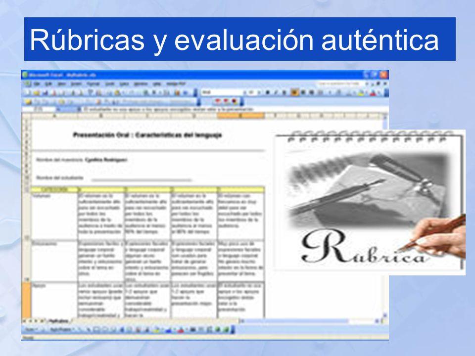 Rúbricas y evaluación auténtica