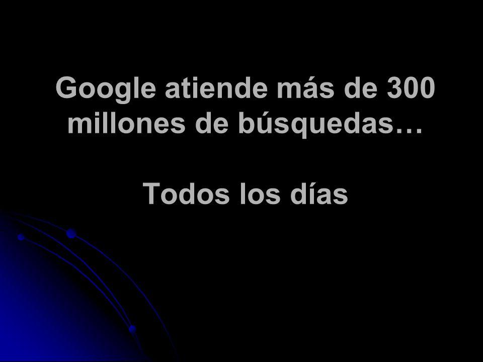 Google atiende más de 300 millones de búsquedas… Todos los días