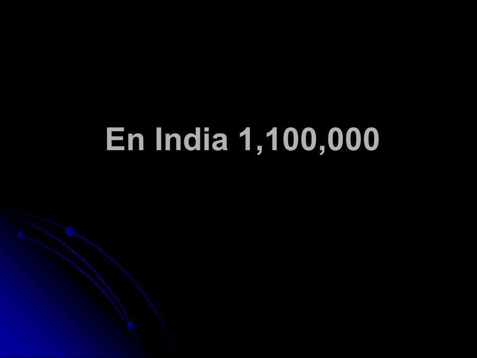 En India 1,100,000