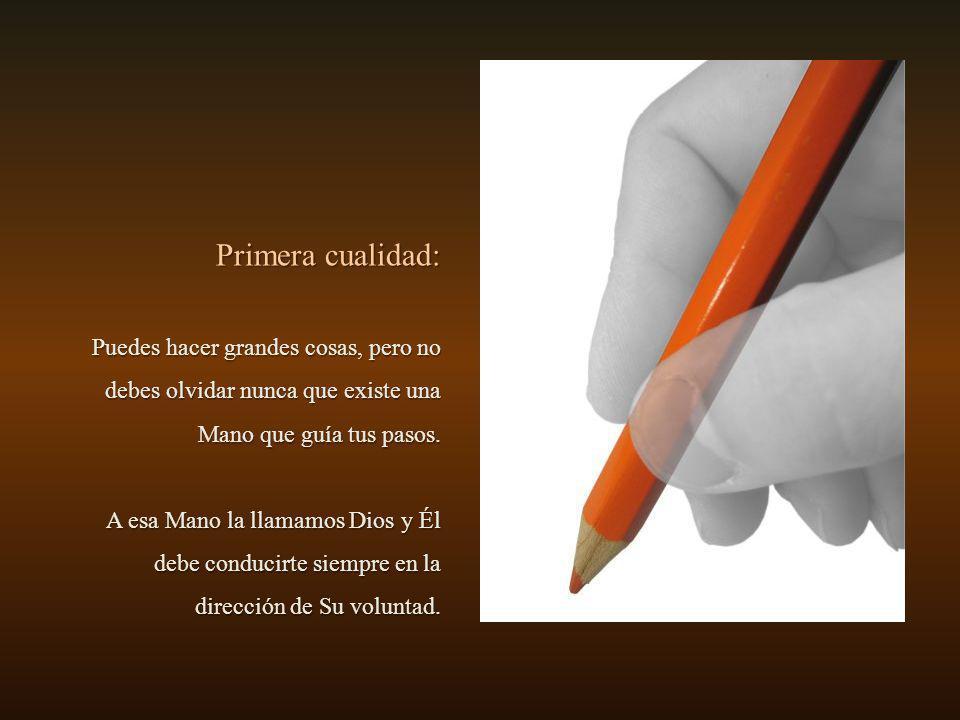 El niño miró el lápiz, intrigado, y no vio nada especial. - ¡Pero, si es igual a todos los lápices que he visto en mi vida! - Todo depende de cómo mir