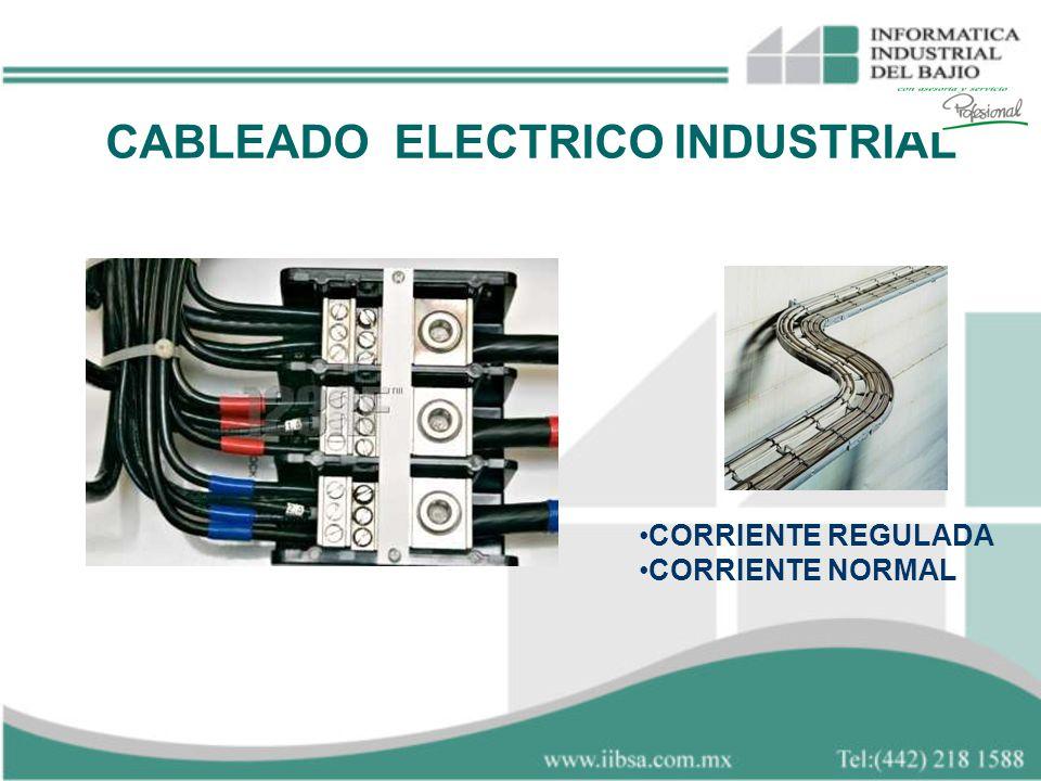 CABLEADO ELECTRICO INDUSTRIAL CORRIENTE REGULADA CORRIENTE NORMAL