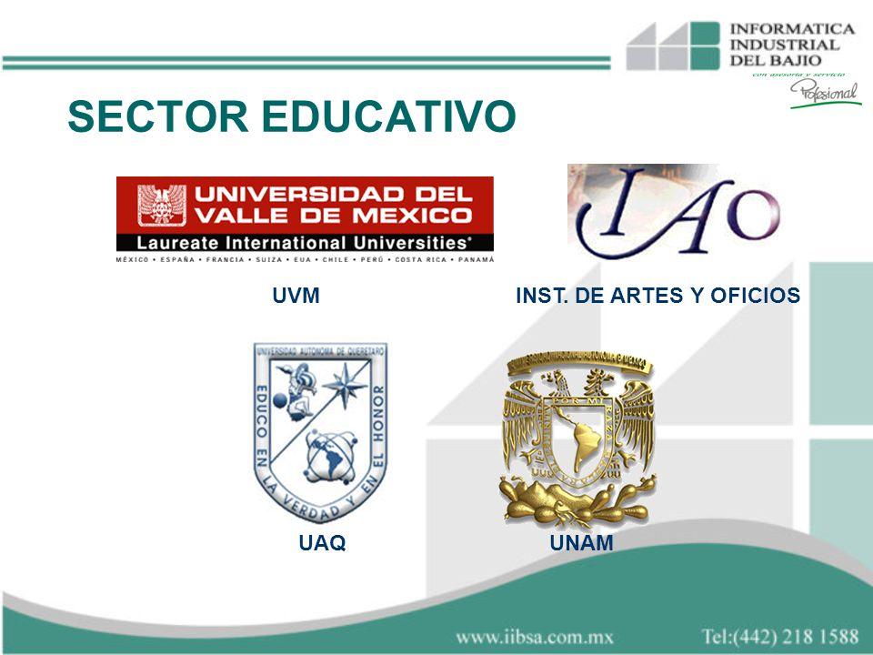 SECTOR EDUCATIVO INST. DE ARTES Y OFICIOSUVM UAQUNAM