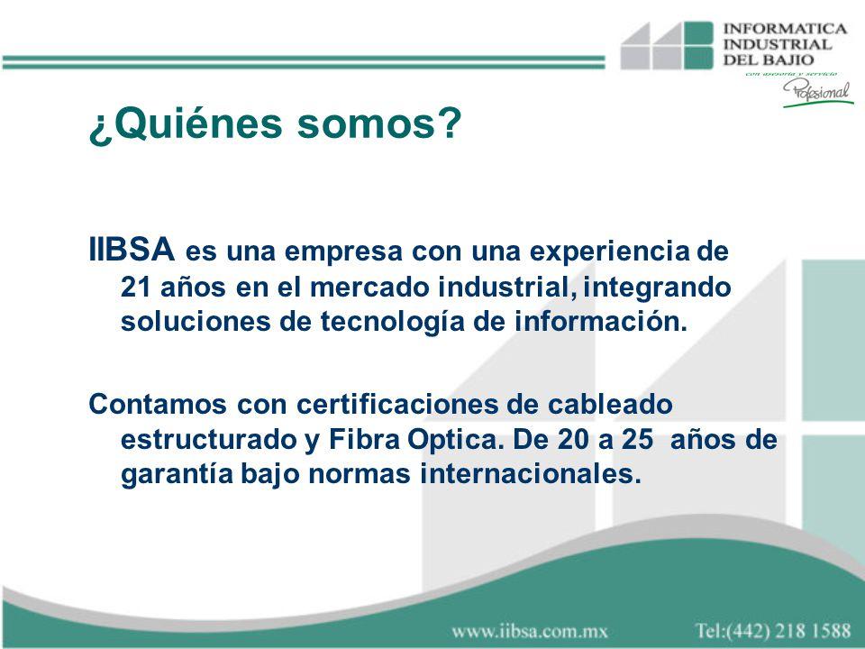 ¿Quiénes somos? IIBSA es una empresa con una experiencia de 21 años en el mercado industrial, integrando soluciones de tecnología de información. Cont